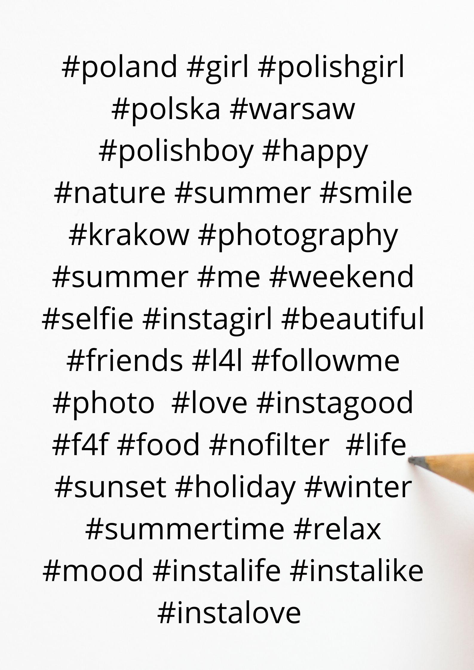 najpopularniejsze hashtagi w Polsce